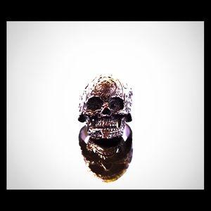 Other - Black rhodium plated skull ring